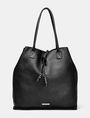 ARMANI EXCHANGE Oversize Leather Tassel Tote Tote D f