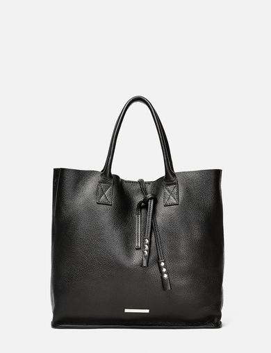 ARMANI EXCHANGE Mini Leather Tassel Tote Woman front