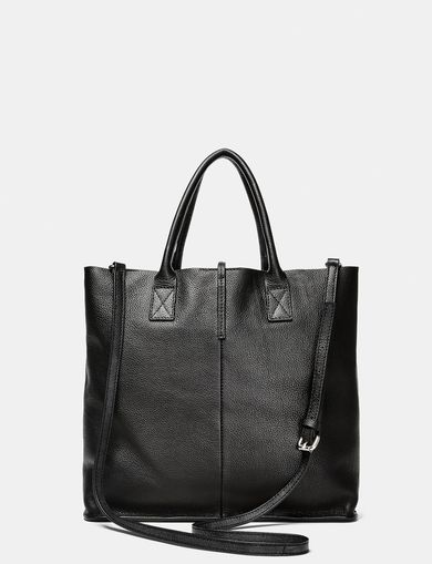 ARMANI EXCHANGE Mini Leather Tassel Tote Woman retro