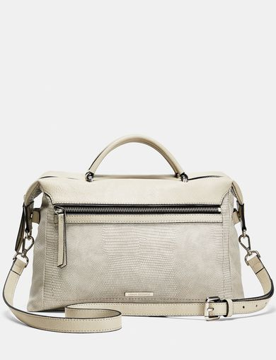 ARMANI EXCHANGE Boxy Lizard Satchel Woman front
