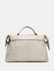 ARMANI EXCHANGE Boxy Lizard Satchel Shoulder bag D r