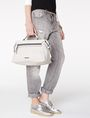 ARMANI EXCHANGE Boxy Lizard Satchel Shoulder bag D e