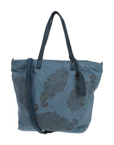 CATERINA LUCCHI レディース ハンドバッグ ブルーグレー 紡績繊維 / 革