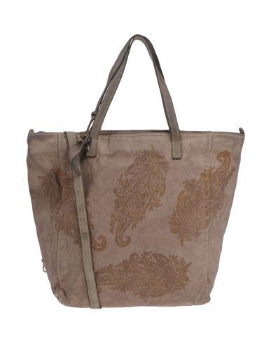 CATERINA LUCCHI レディース ハンドバッグ ドーブグレー 紡績繊維 / 革