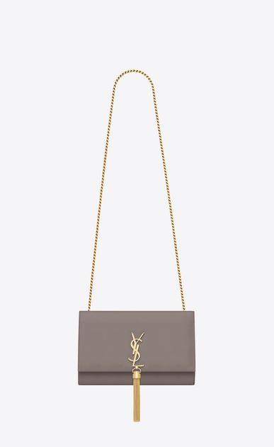 SAINT LAURENT MONOGRAM KATE WITH TASSEL D medium kate tassel chain bag in fog leather a_V4