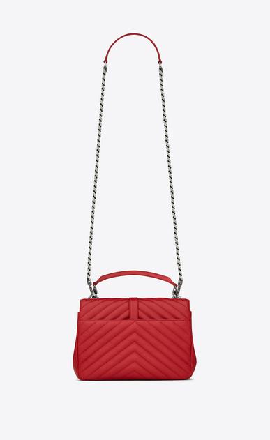 SAINT LAURENT Monogram College D classic medium collège bag in red matelassé leather b_V4