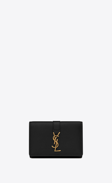 SAINT LAURENT YSL line D YSL Key Case in Black Leather a_V4