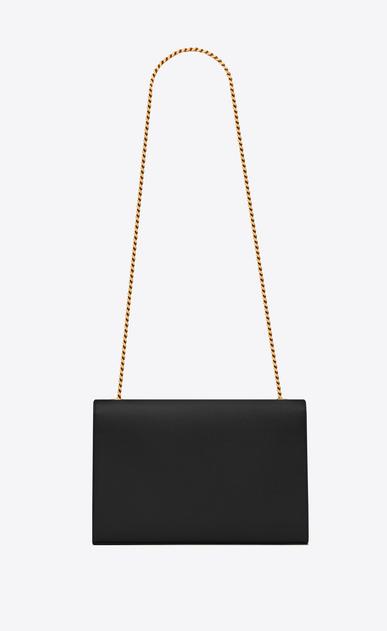 SAINT LAURENT MONOGRAM KATE D classic large kate chain bag in black grain de poudre textured leather b_V4
