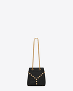 SAINT LAURENT Bucket Bag D Baby Y STUDS Bucket Bag in Black Leather f