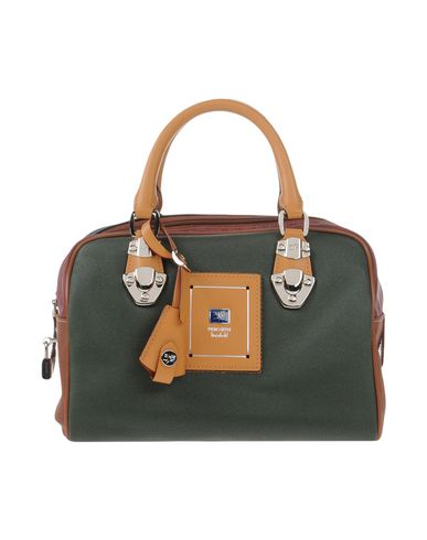 PIERO GUIDI レディース ハンドバッグ グリーン 紡績繊維
