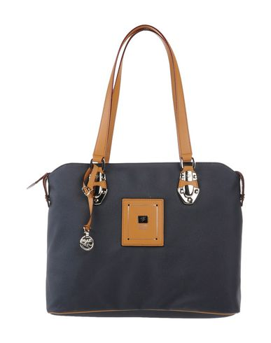 PIERO GUIDI レディース ハンドバッグ ブルーグレー 紡績繊維