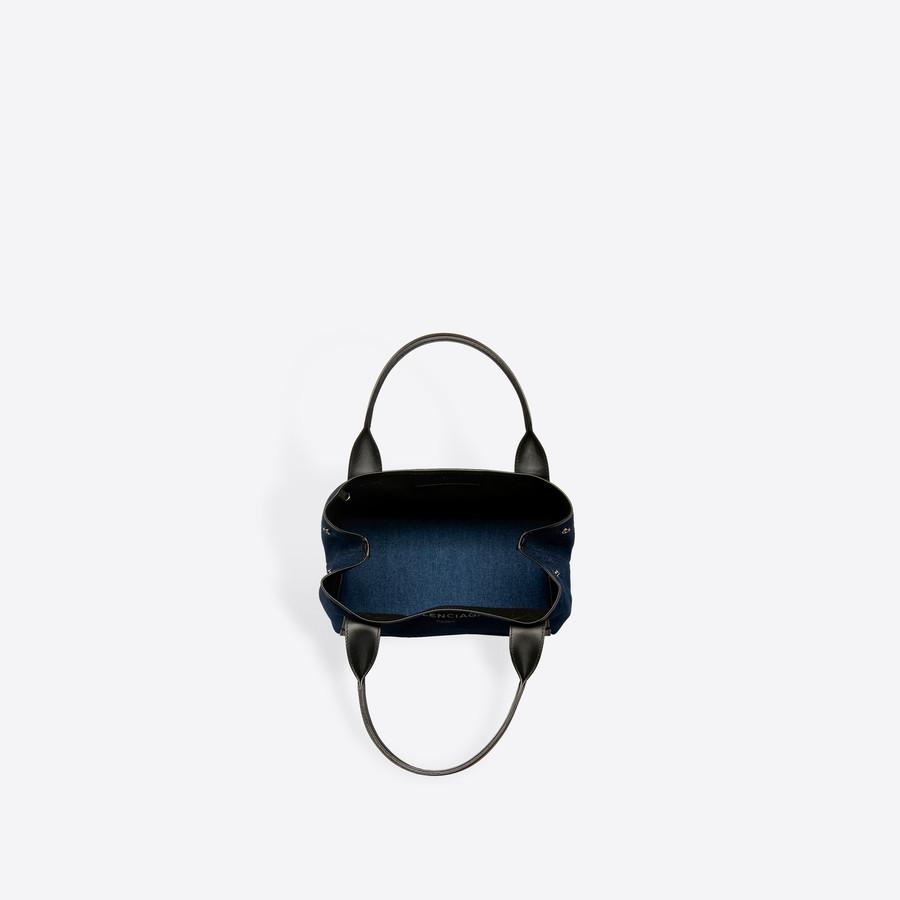 BALENCIAGA Denim Navy Cabas S Navy Handbag D e