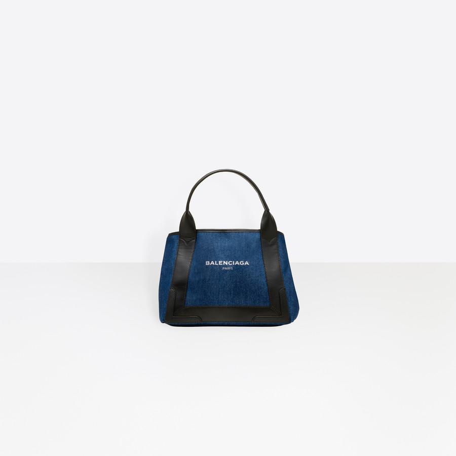 BALENCIAGA Denim Navy Cabas S Navy Handbag D f