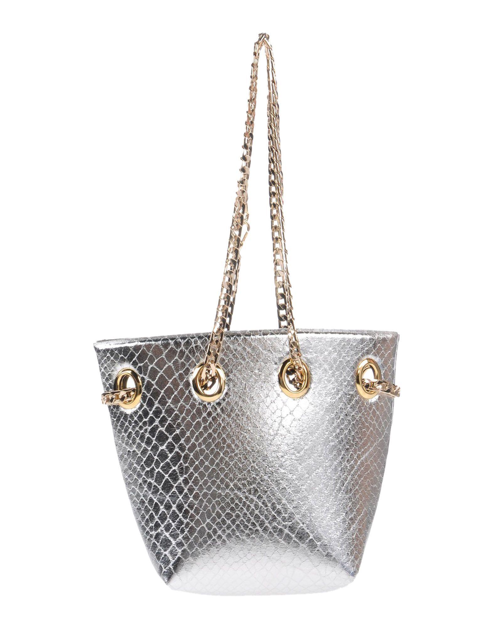 LA FILLE des FLEURS Damen Schultertasche Farbe Silber Größe 1