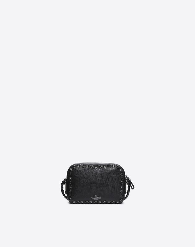 Rockstud Rolling Noir Cross Body Bag