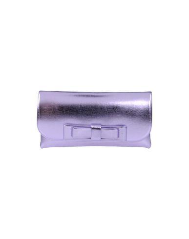 LA FILLE des FLEURS レディース ハンドバッグ ライトパープル ポリエステル 60% / ナイロン 35% / ポリウレタン 5%
