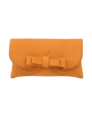 LA FILLE des FLEURS レディース ハンドバッグ オレンジ ポリエステル 60% / ナイロン 35% / ポリウレタン 5%