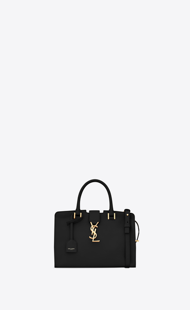 baby cabas ysl bag in black leather
