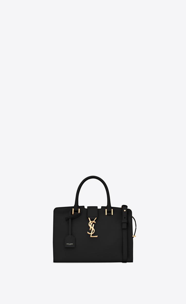 00c7cbeb Saint Laurent Baby Cabas Ysl Bag In Black Leather | YSL.com