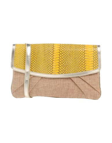 HYPNOSI レディース ハンドバッグ イエロー 紡績繊維