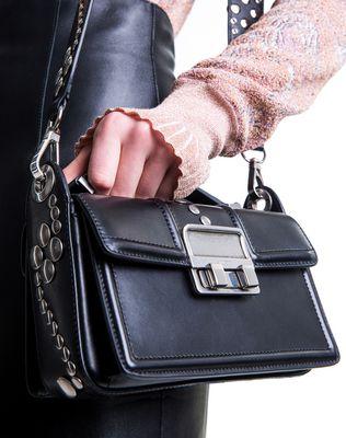 LANVIN BLACK SMALL BOX JIJI BY LANVIN BAG Shoulder bag D e