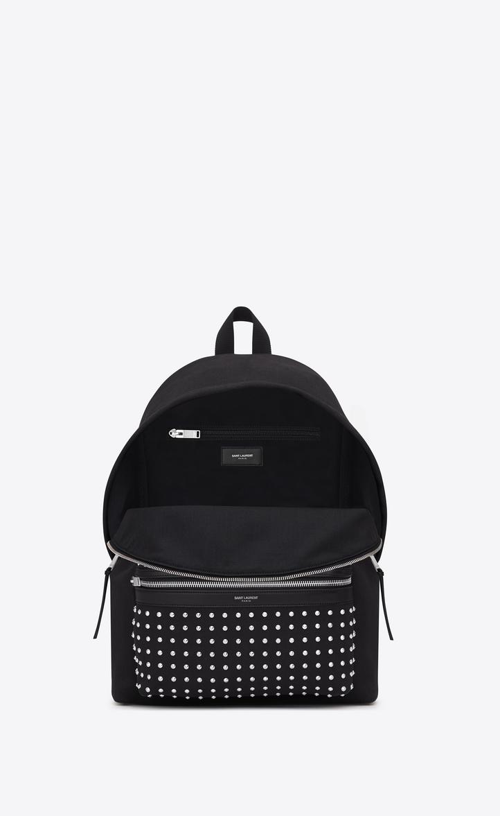 c02ee3cd51d Saint Laurent Classic City Backpack In Black Cotton Canvas ...