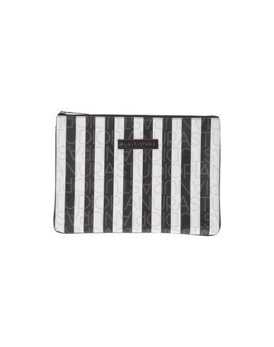 PIANURASTUDIO レディース ハンドバッグ ブラック 紡績繊維