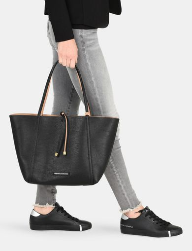 ARMANI EXCHANGE MEDIUM REVERSIBLE TOTE Woman retro
