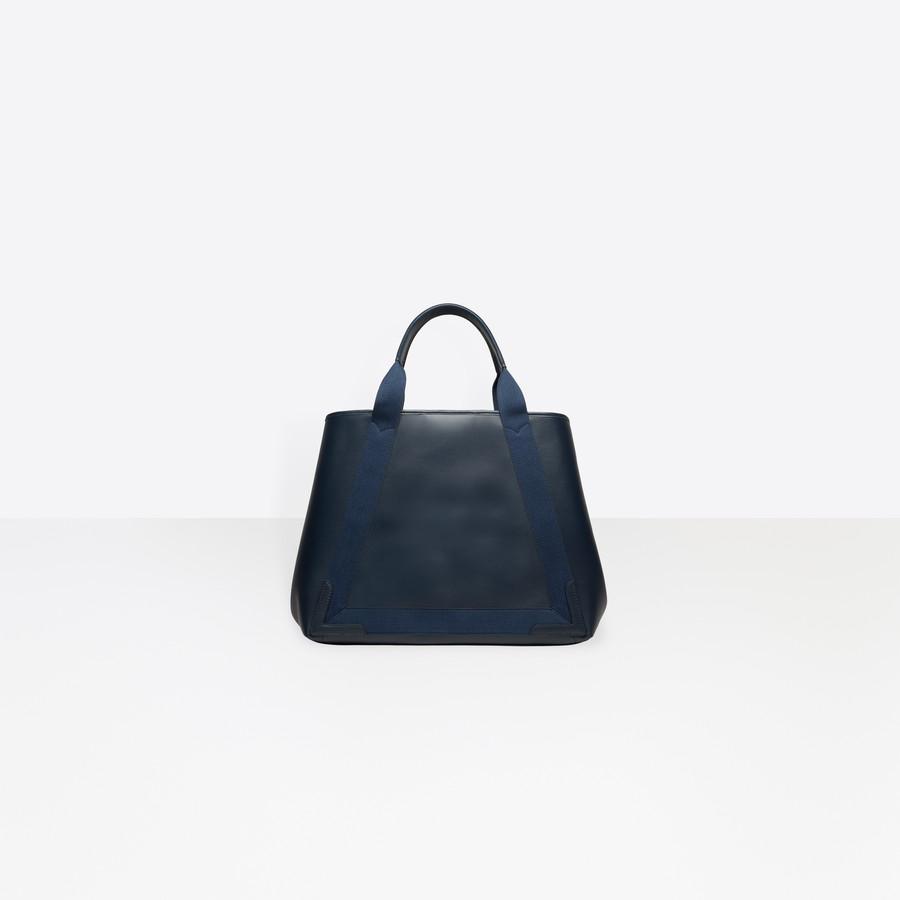 BALENCIAGA Leather Navy Cabas M Navy Handbag D d
