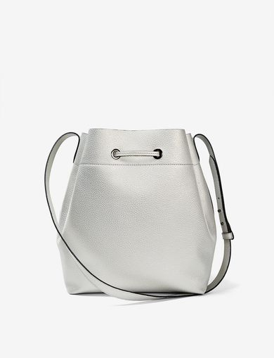 ARMANI EXCHANGE PEBBLED BICOLOR BUCKET BAG Woman retro