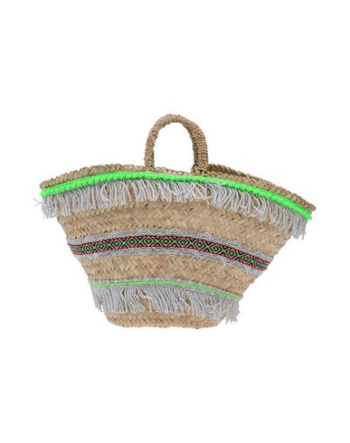 MICAELA SPADONI レディース ハンドバッグ ビタミングリーン ストロー / 紡績繊維
