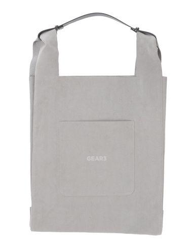 GEAR3 レディース ハンドバッグ グレー 紡績繊維 / 牛革