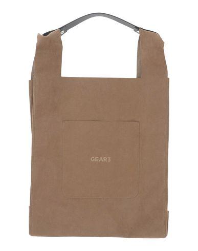 GEAR3 レディース ハンドバッグ カーキ 紡績繊維 / 牛革