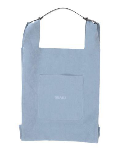 GEAR3 レディース ハンドバッグ ブルーグレー 紡績繊維 / 牛革