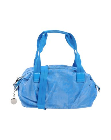 FERRE' MILANO レディース ハンドバッグ ブルー コットン 60% / ポリウレタン 20% / ポリ塩化ビニル 10% / ナイロン 10%