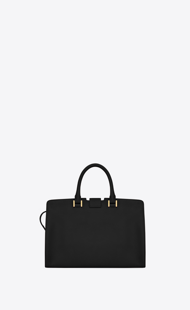 SAINT LAURENT Monogram Cabas Woman small cabas ysl bag in black leather b_V4