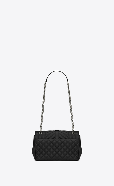 SAINT LAURENT Monogram envelope Bag D classic medium soft envelope in black leather b_V4