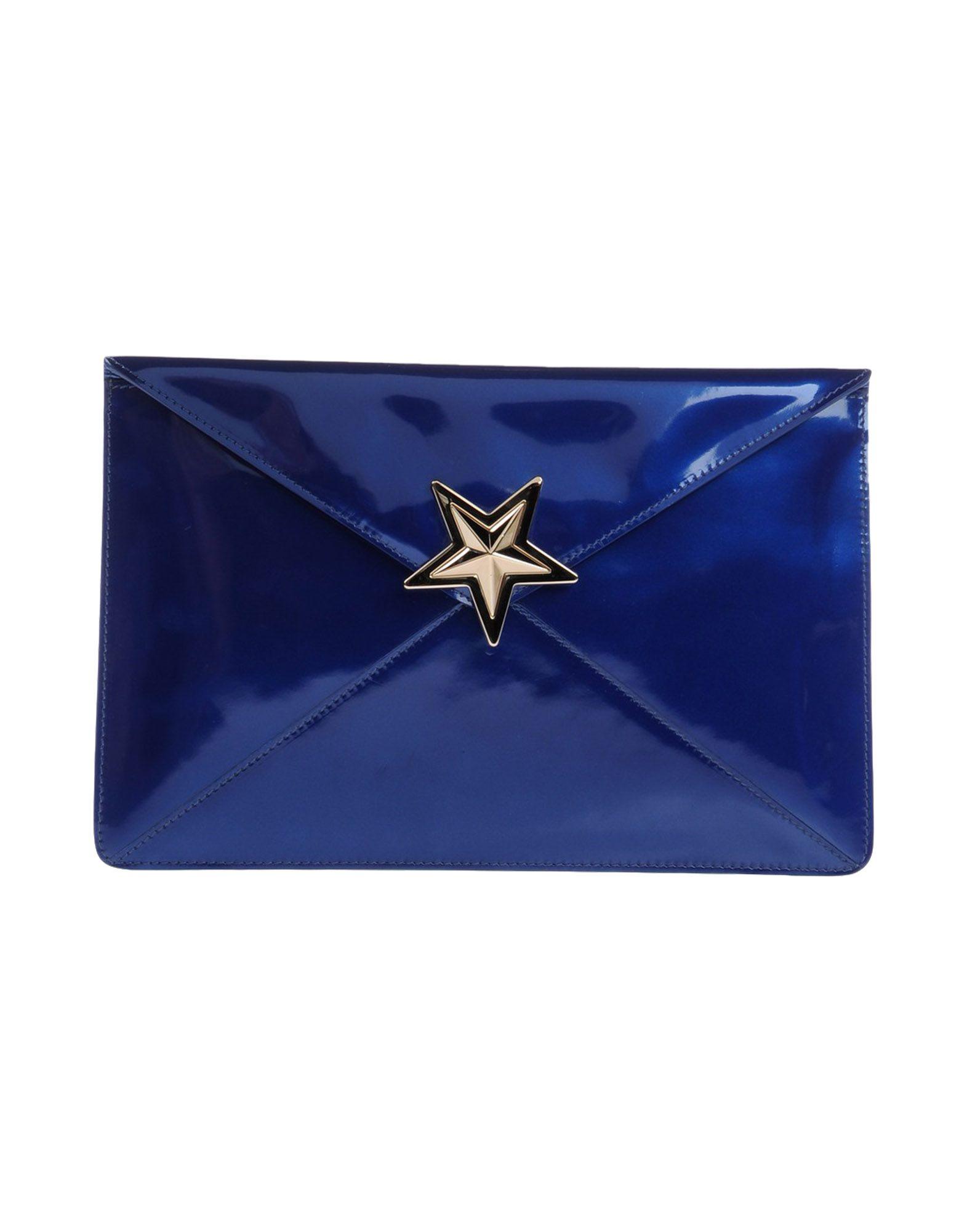 《送料無料》RED(V) レディース ハンドバッグ ブルー 革