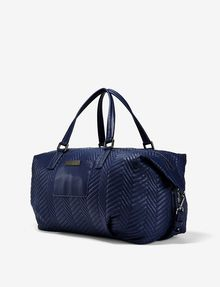 ARMANI EXCHANGE LARGE CHEVRON QUILTED DUFFLE Bag Woman d