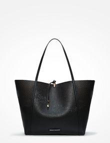 ARMANI EXCHANGE LARGE PERFORATED REVERSIBLE TOTE Tote bag D a