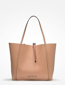 ARMANI EXCHANGE LARGE PERFORATED REVERSIBLE TOTE Bag D a