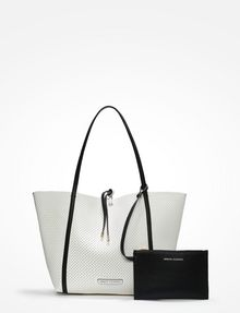 2cf6437b5a3 Armani Exchange LARGE PERFORATED REVERSIBLE TOTE