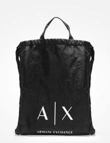 ARMANI EXCHANGE NYLON DRAWSTRING BAG Backpack Man f