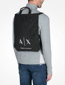 ARMANI EXCHANGE NYLON DRAWSTRING BAG Backpack Man r