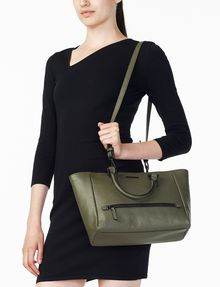 ARMANI EXCHANGE PEBBLED ZIP TOTE Bag D a