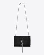 SAINT LAURENT MONOGRAM KATE WITH TASSEL D classic medium monogram saint laurent tassel satchel in black crocrodile embossed shiny leather f