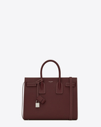 SAINT LAURENT Sac De Jour Small D Classic Small SAC DE JOUR Bag in Dark Red Grained Leather f