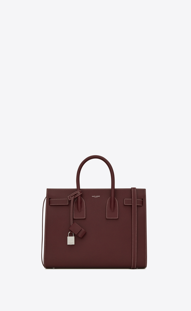 SAINT LAURENT Sac De Jour Small D Classic Small SAC DE JOUR Bag in Dark Red Grained Leather a_V4