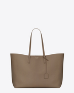 SAINT LAURENT Shopping Saint Laurent E/W D Large SHOPPING SAINT LAURENT Tote Bag in Taupe Leather f