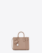 SAINT LAURENT Nano Sac de Jour D classic nano sac de jour bag in antique rose grained leather f